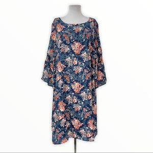 Avenue NWT Women's Dress Lined Floral 3/4 Sleeves